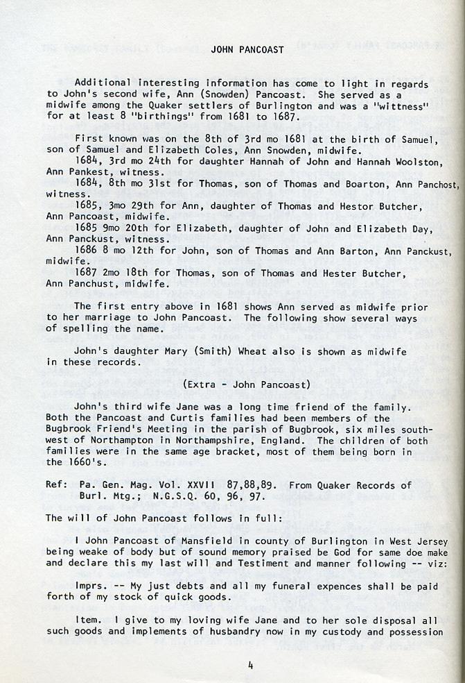 Bennett Pancoast Family pg 4