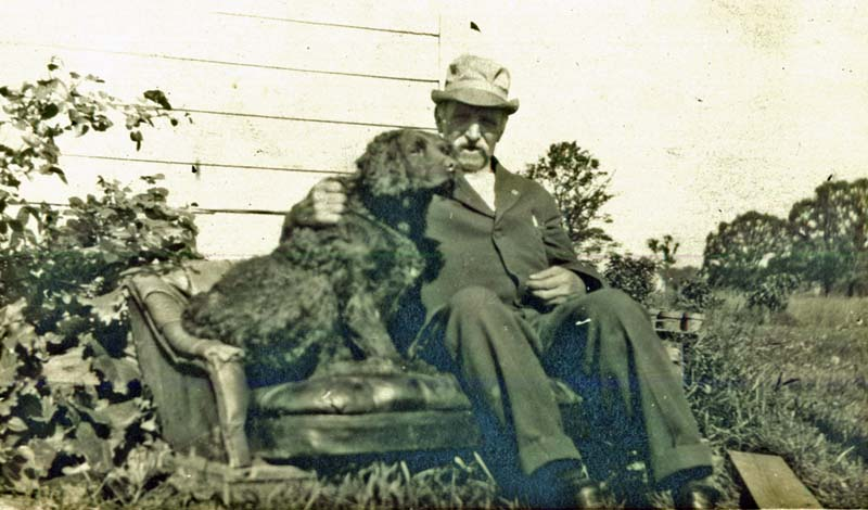 George Dutcher and dog