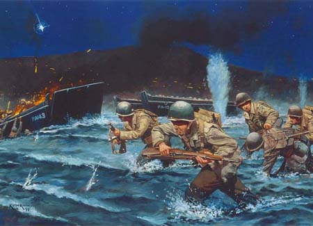 WWII Storming the Beach