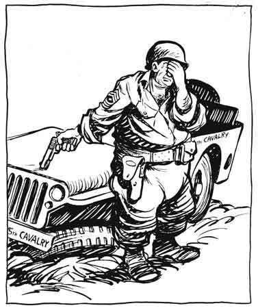 WWII Calvary Cartoon
