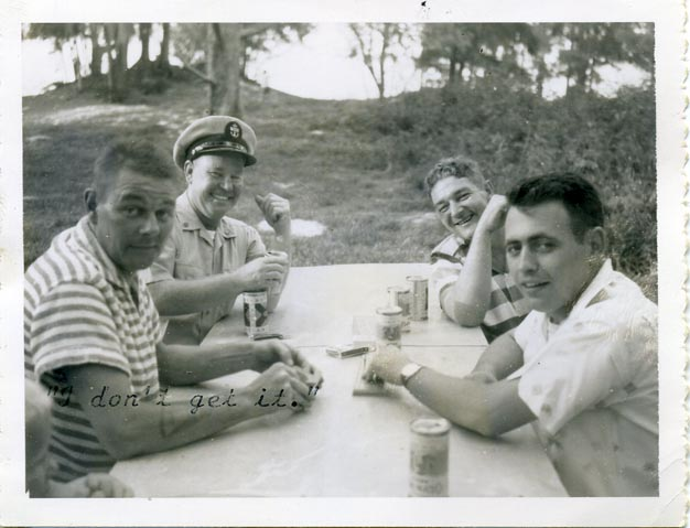 Picnic Midway Island Card Game Olympia Lucky Lager 1961