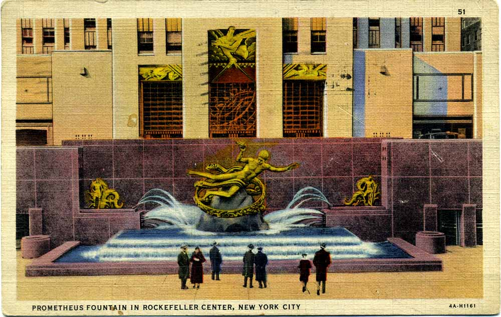 Rockefeller Post card front