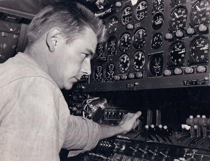 Dad at the Controls abt 1960