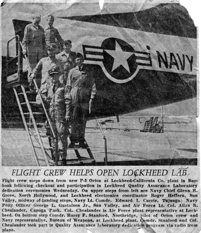 FLIGHT CREW HELPS OPEN LOCKHEED LAB