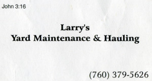 Larry's Bus Card